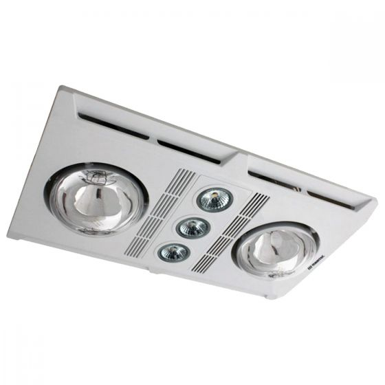 Martec Profile Plus 2 LED Bathroom 3-In-1 Heat Light Exhaust Fan