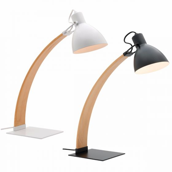 View Photo: Mercator Avalon Ash Wood Task Lamp