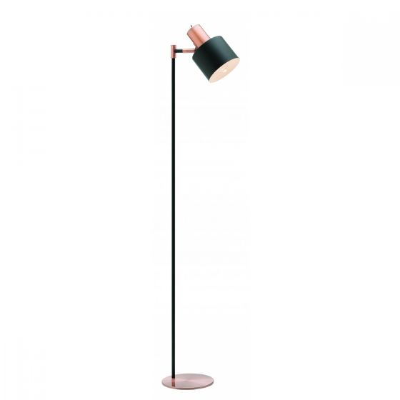 View Photo: Mercator Benjamin Black 1 Light Metal Floor Lamp