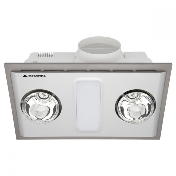 Mercator Cosmo Duo Bathroom 3-in-1 Heat Light Exhaust Fan