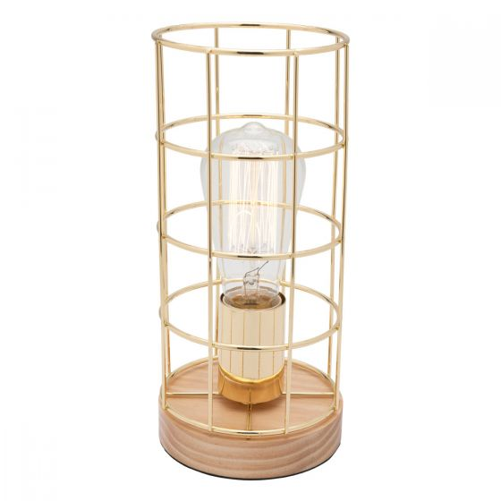 Mercator Harriet Open Shade 1 Light Metal Table Lamp