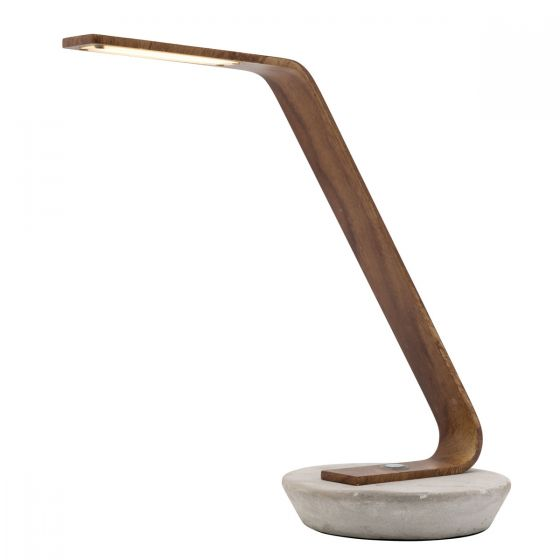 View Photo: Mercator Harrison Timber Style LED Touch Table Lamp