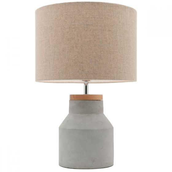 View Photo: Mercator Moby 1 Light Concrete & Timber Table Lamp