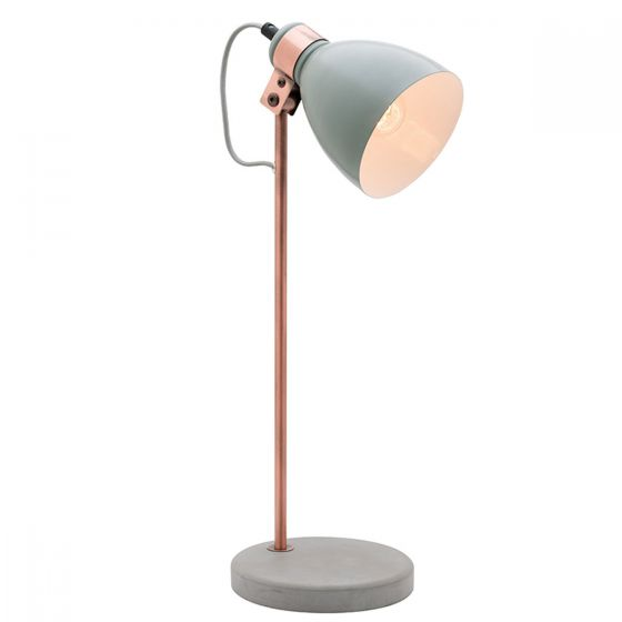 Mercator Orlando 1 Light Concrete And Copper Table Lamp