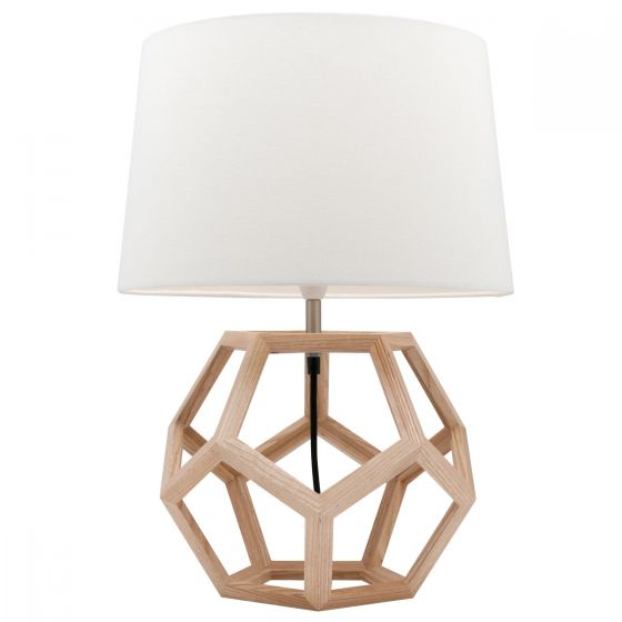 View Photo: Mercator Peeta Natural Timber Table Lamp