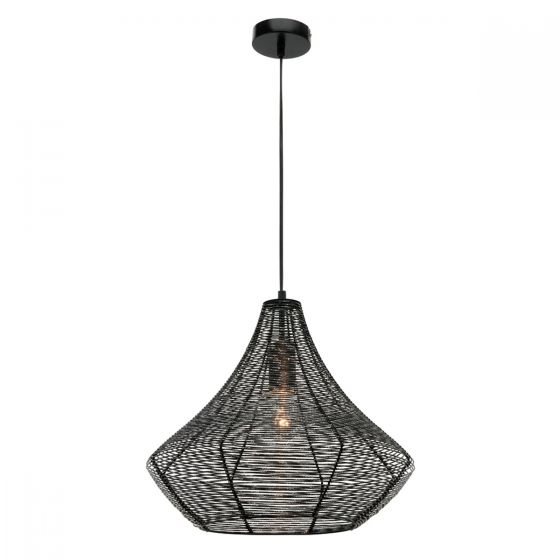 View Photo: Mercator Storm Large Black Aluminium Wire Shade Pendant Light