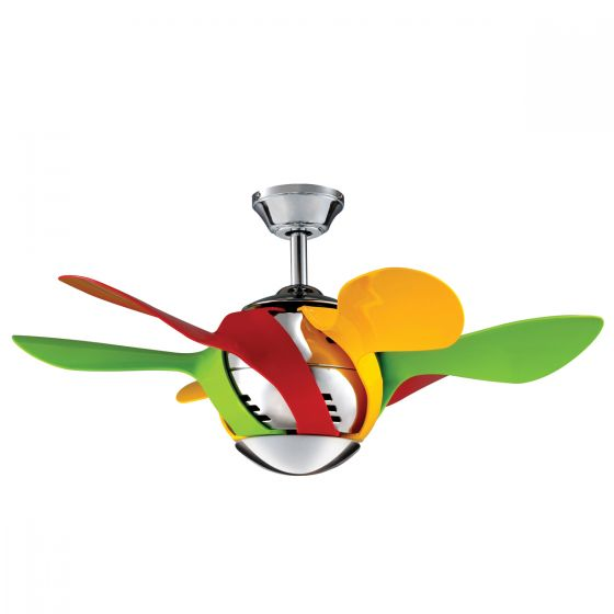 MyFan Harlequin Mini Ceiling Fan & Light