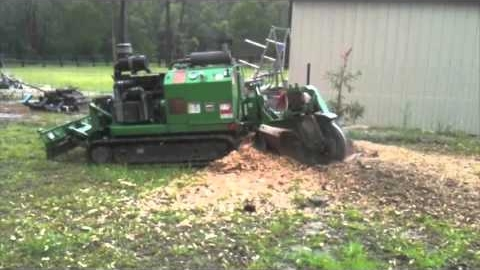 Watch Video: Brisbane Stump Grinding - Bandit 85 HP Stumpgrinder