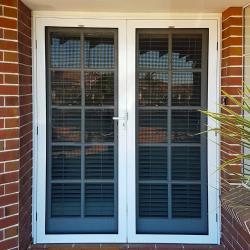 View Photo: Double screen doors in white