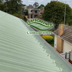 View Photo: Corrugated roof protected by LEAFSCREENER®