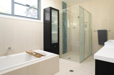 View Photo: Glass Tile Bathroom Renovation