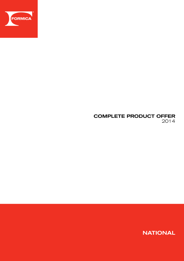 Browse Brochure: Formica National Availability Guide
