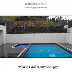 View Photo: Stunning Pool Surround and Water Tank Combined