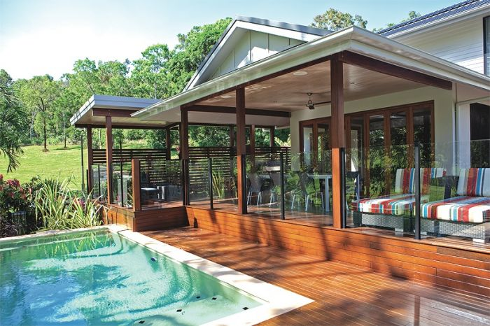 View Photo: Pool decking with beautiful timber Pergola