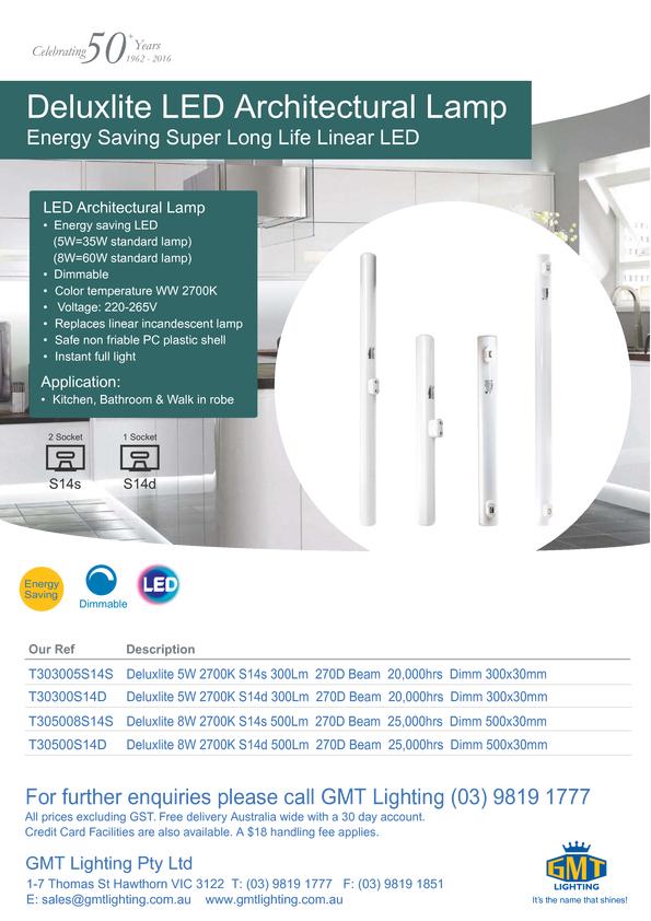 View Brochure: Deluxlite LED Architectural Lamp
