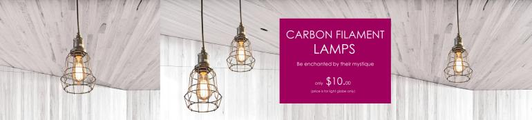Carbon Filament Lamp 25W Edison Screw