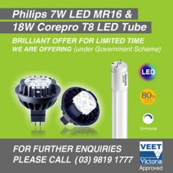 View Photo: Philips Led Mr16 & Core-pro LED t8 tube