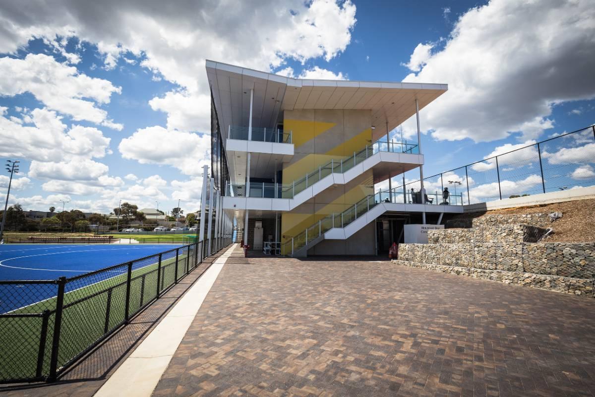 View Photo: Mahogany Pavers at Glenelg District Tennis Club