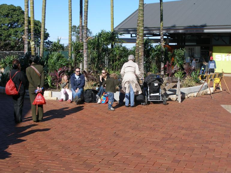View Photo:  Taronga Zoo Sydney Australia .Old Red Cobblestones