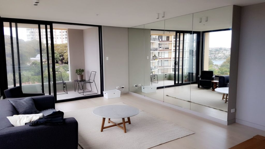 View Photo: Floor to Ceiling Mirrored Wall 2400 x 4500