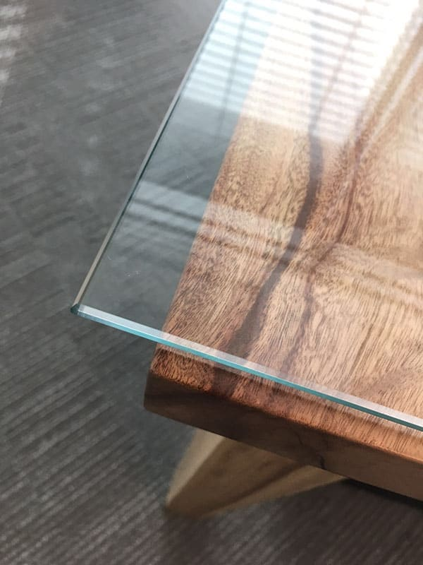 View Photo: Glass Top On Wooden Table