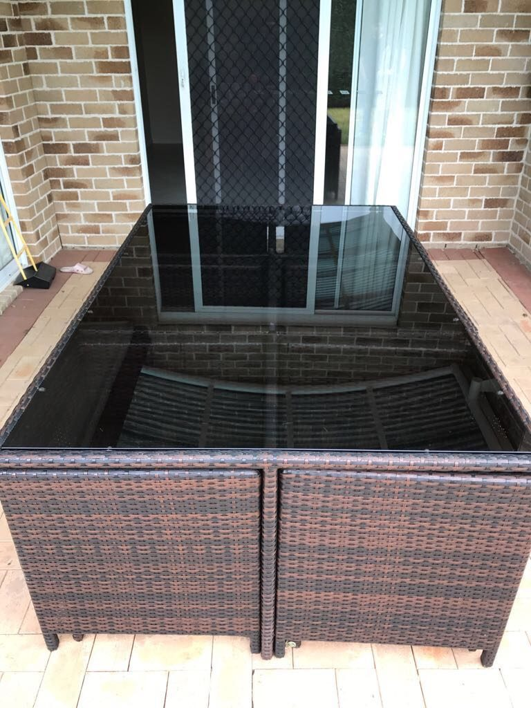 View Photo: Outdoor Table Glass Top
