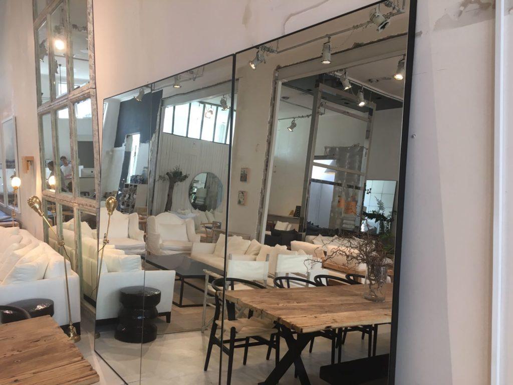 Powder Coated Black Steel Frame Mirror