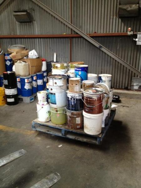 View Photo: Mat White Painting - recycling all waste materials.