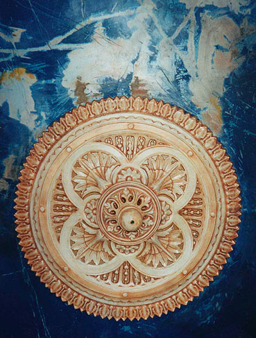 View Photo: Toorak :: Ceiling Rose & Blue Ceiling
