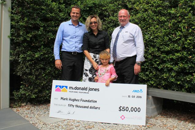 Read Article: Mark Hughes Foundation receives $50,000 donation from McDonald Jones Homes