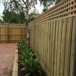 View Photo: 1.95m fence with Lattice and Capping