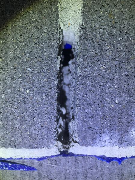 View Photo: Blocked weep hole to block work cavity wall