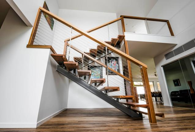 Read Article: Stunning Timber & Wire Staircase