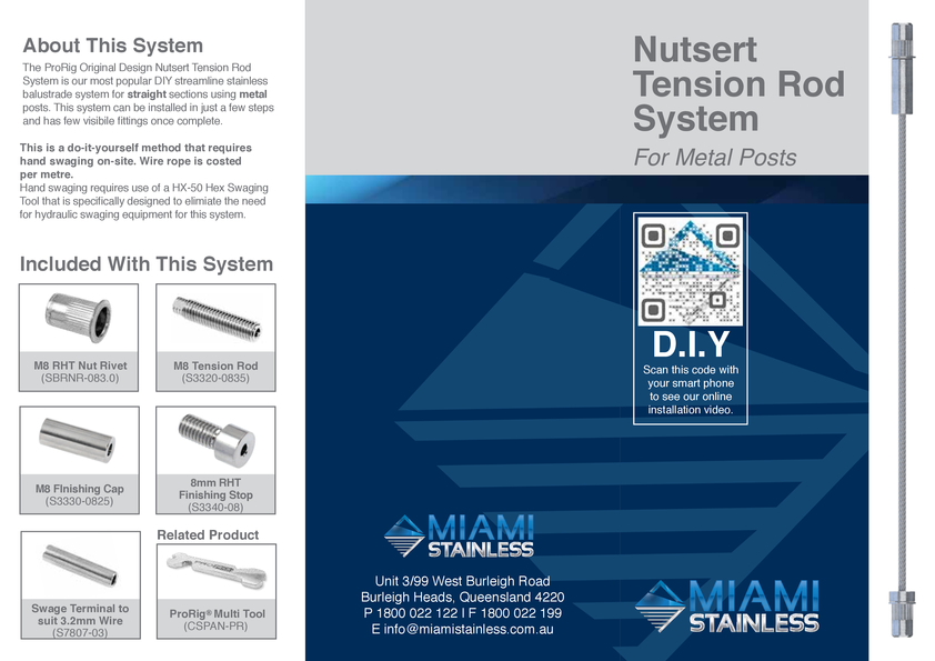 View Brochure: Insert Tension Rod System Instruction Sheet
