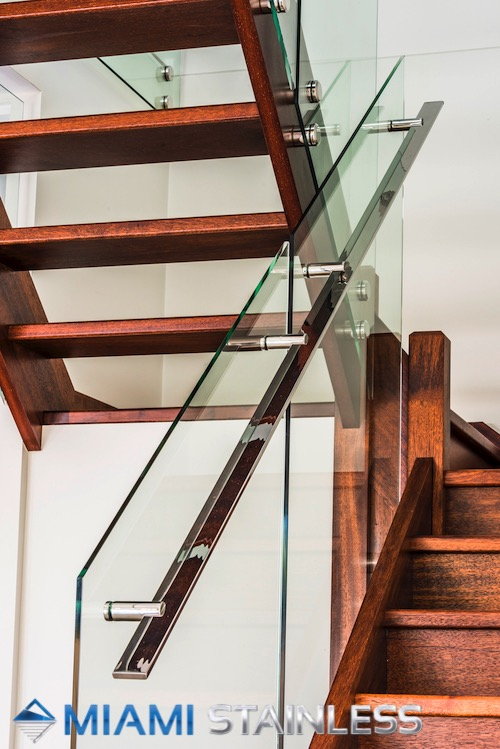 Glass and Custom Stainless Steel Handrail