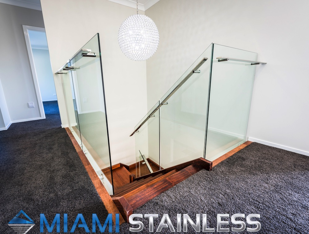 View Photo: Glass and Stainless Steel Staircase 2