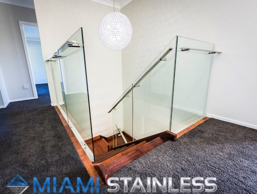 Glass and Stainless Steel Staircase 3