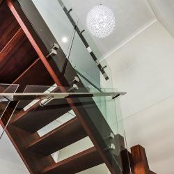 View Photo: Glass and Stainless Steel Staircase with 50mm standoffs