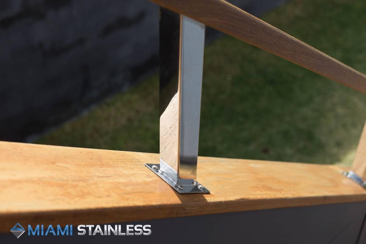 View Photo: Mirror polished custom handrail posts