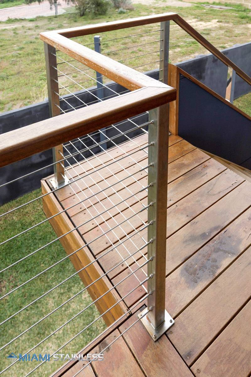 View Photo: Timber and wire balustrade