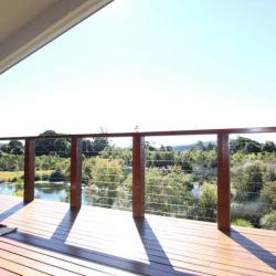 View Photo: Timber deck and wire balustrade