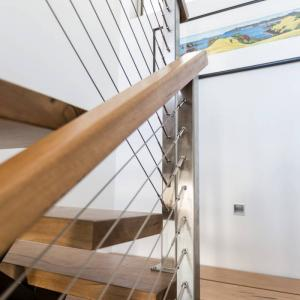 View Photo: Timber handrail on wire balustrade