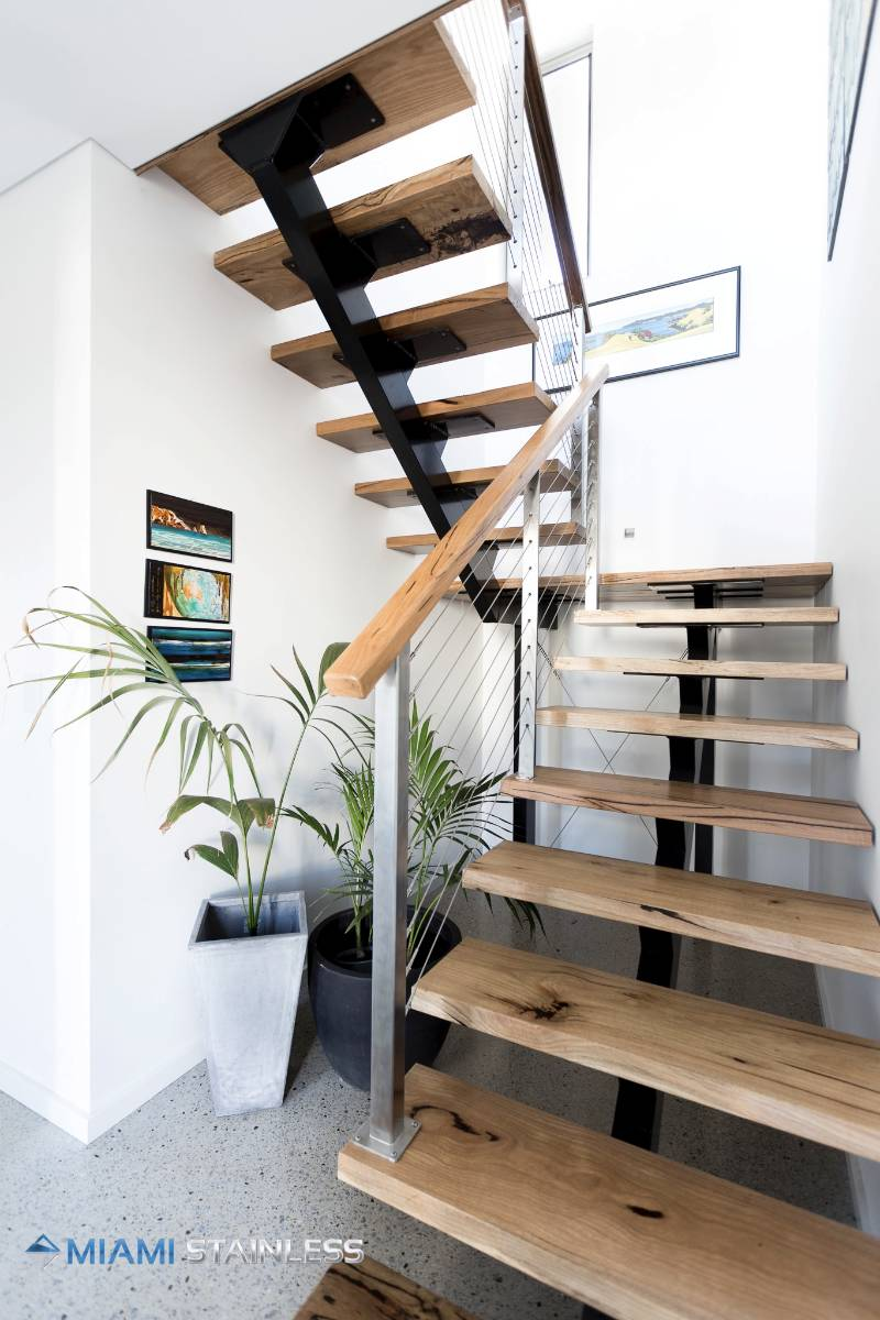 View Photo: Timber step and handrail staircase