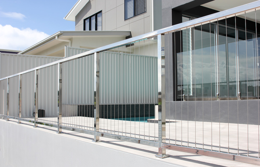 View Photo: Vertical wire balustrade with custom made posts and handrails
