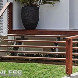 View Photo: Wire and timber handrails