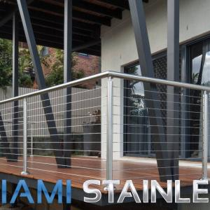View Photo: Wire balustrade with stainless steel posts