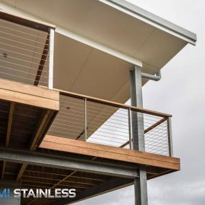 View Photo: Wire, posts and timber balcony