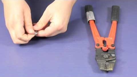 Watch Video : How to hand swage wire