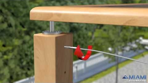 Watch Video: How To Install Wire Balustrade - Lag Screw Swage System