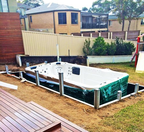 Read Article: Modular Retaining Walls  The Perfect Solution for a Spa Enclosure